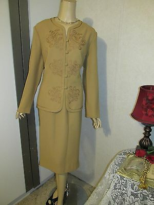 Mother Of The Bride Dress by Che Studio-Size 16-Camel Skirt/Jacket Set