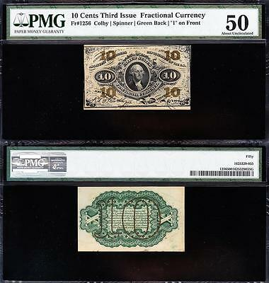 Awesome HIGH GRADE *SCARCE* 3rd Issue 10 cent Fractional! PMG 50! FREE SHIP TC21