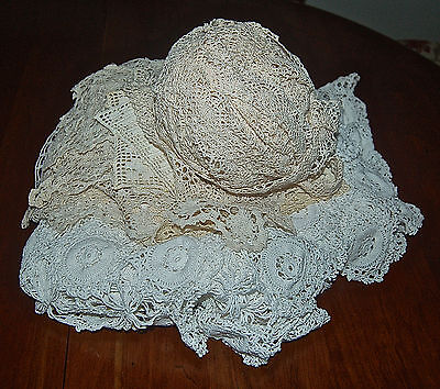 Vintage Filet Lace Crochet Lot 23 Pieces