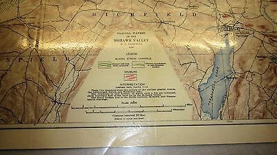 1909 Mohawk Valley N.Y. Glacial Waters Legend Map Scale 1/62500 USGS
