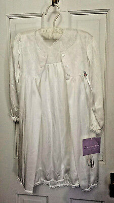 Sterling Kids Little Girls Peignor 2 Pc. Nightgown & Robe Set 2T NWT USA