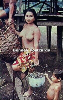 panama, Native Nude Woman of the Waunana Tribe (1960s)