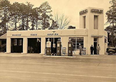 Vintage  Gulf Gulflex Gas Service Station Attendant's Owner Cans  Early 1950's