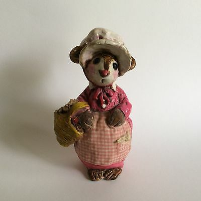 Wee Forest Folk #m Miss Neighborly Mouse - 1977- Oversized piece