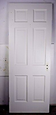"Antique Vintage 6 Panel Interior Door 77"" X 29-1/2"" (C6) 1940's"