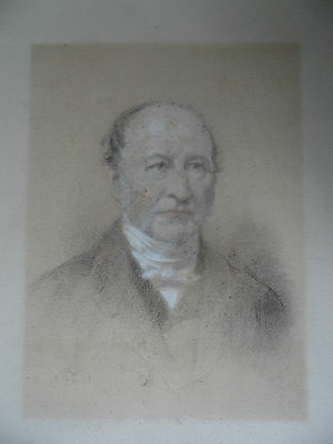 Victorian Charcoal Portrait of a Gentleman, indistinctly signed. For Restoration