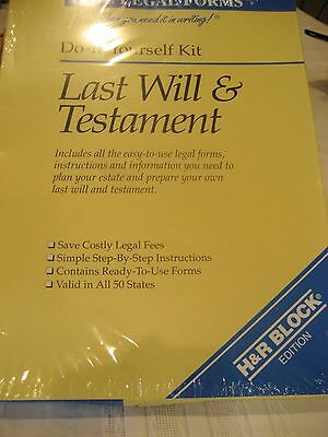 E-Z Legal Forms  Last Will & Testament  Do-It-Yourself Kit
