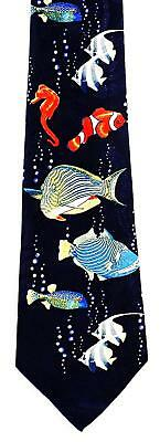NEW! Lots of Colorful Tropical Fish Ocean Aquarium Sealife Novelty Necktie 853-L