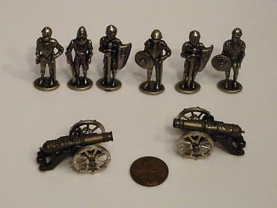 Kinder Surprise Miniature Knights (6) And Cannons (2)