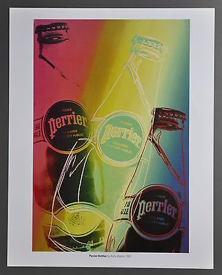 Andy Warhol Perrier Bottles 1983 Original Foundation Color Lithograph 34x43 Art