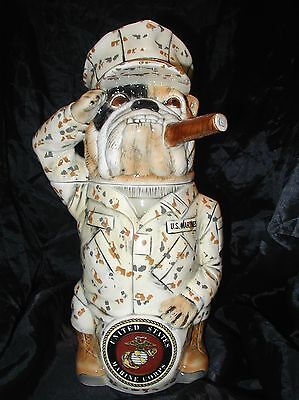 M Cornell Importers Stein U.S. Marines Saluting Bulldog Germany Limited 35/5000