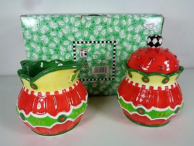 Mary Engelbreit Twas Creamer Sugar Christmas 2004 Set 118542