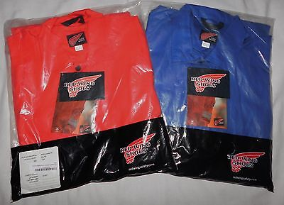 NWT MEN'S Red Wing Coverall Fire Retardant Workwear Red or Blue Size 44R or 48T
