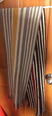 PAUL SMITH VIRGIN WOOL STRIPE STRIPED SCARF New w/ Tag 2-sided Made In Germany