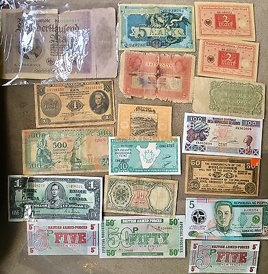 Lot Of 18 World Bank Notes ���� ���� ���� ���� ���� ����
