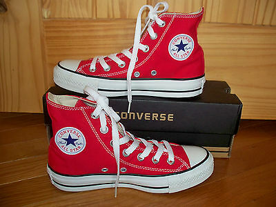 Converse All Star Chuck Taylor Red High Top Men 3 Women 5 Excellent Condition
