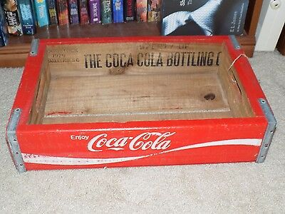 Coca-Cola Coke Vintage 1979 Red And White Wooden Crate
