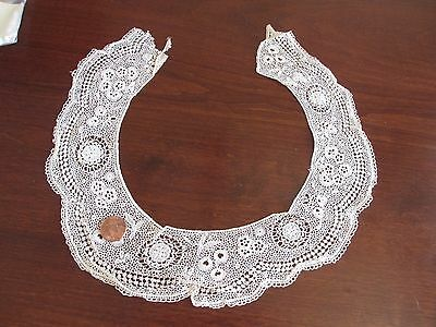 Antique Irish Lace Collar Dora Dwelley Estate Fancy Ornate 19th C