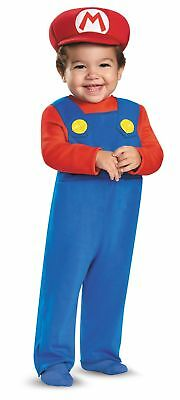 Mario Child Infant Baby Costume Size 12-18 Months NEW Super Mario Bros