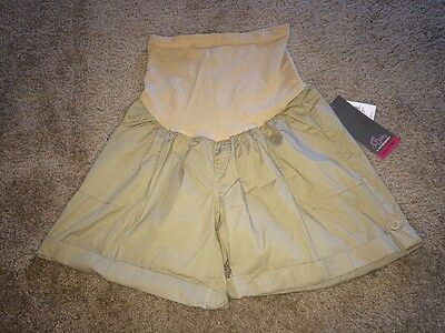 NWT Oh Baby by Motherhood Maternity Shorts- Khaki color size LARGE