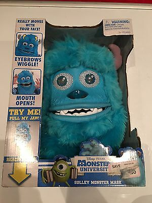 Disney MONSTERS INC. Sulley Monster Mask w/ operational fright feature, NEW, MIB