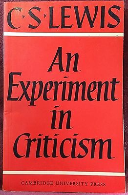 An Experiment in Criticism by C.S. Lewis 1978 paperback