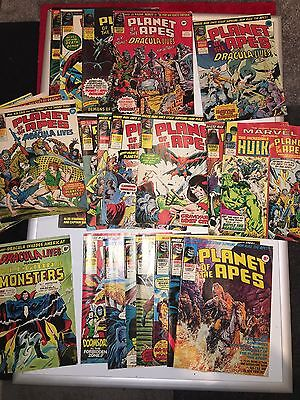 Planet of the Apes Bundle Vintage 1976 Approx Age Marvel Comic Magazine**
