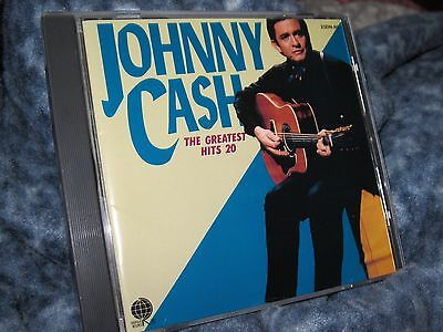 """Johnny Cash Cd """"The Greatest Hits 20"""" Japanese Import"""