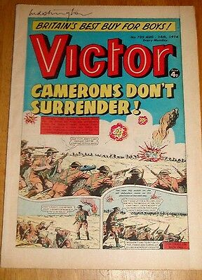 British 8Th Army & Cameron Highlanders In Egypt  Ww2 Cover Story  Victor 1974