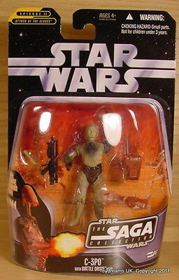 STAR WARS SAGA Figurine C-3PO  Battle Droid Head Hasbro