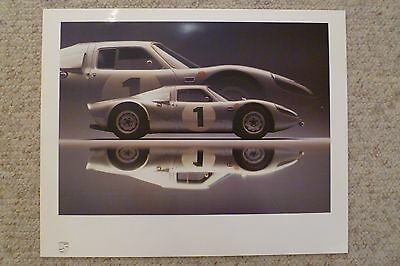 1965 Porsche Carrera GTS Type 904 Showroom Advertising Poster RARE Awesome L@@K