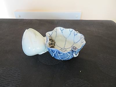 Antique Chinese Blue and White Porcelain Water Dropper Lotus and Crab Late Ming
