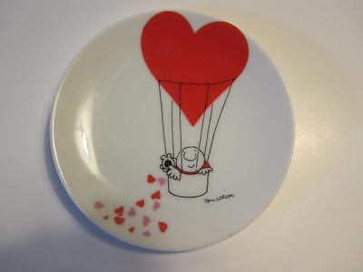 "ZIGGY ""Here's To Love"" Valentine 4"" Collector's Plate Red Hearts by Tom Wilson"