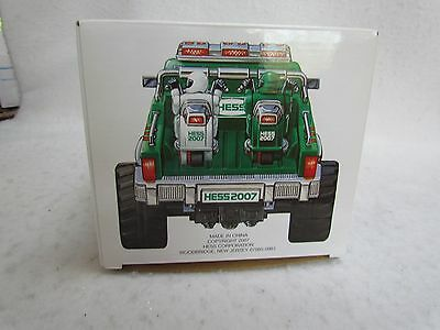 2007 Hess Toy Monster Truck with Motorcycles and Bag ~ Mint in the Box!