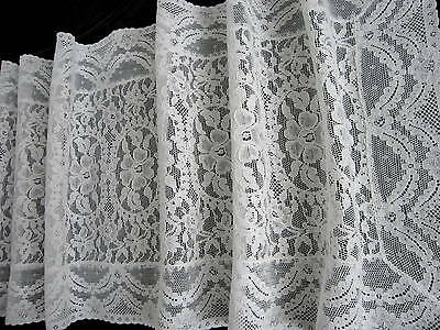 Exquisite Antique White French Alencon Lace Runner