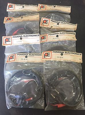 8 Sets Pomona 2BC-MG-48 Banana Plug Test Lead New In Package