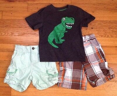lot of 2 baby toddler boy shorts And 1 Short Sleeve Shirt size 18 months