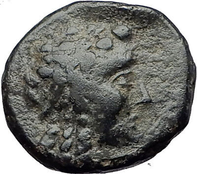 ANTIOCHOS III Megas 222BC RARE R1 Ancient Greek SELEUKID King Coin APOLLO i60832