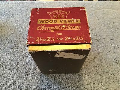 REX WOOD CHROMAT-O-SCOPE SLIDE VIEWER with Original Box