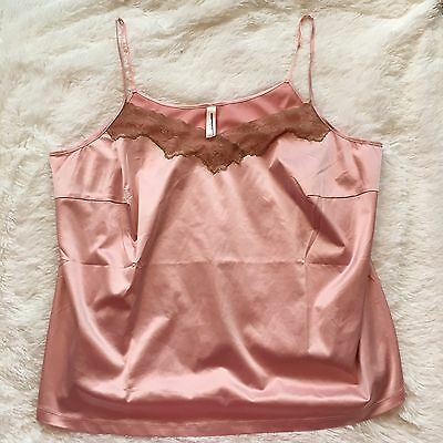 CACIQUE Lane Bryant Pink Silky Lace Camisole Top 22/24