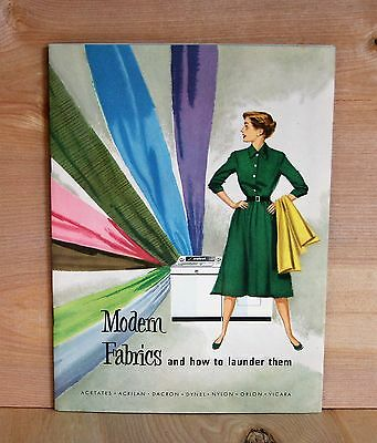 1950's illustrated WHIRLPOOL WASHING MACHINES owners manual MODERN FABRIC CARE