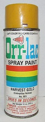 Vintage Orr-lac Spray Paint Can Harvest Gold (Caterpillar Yellow)