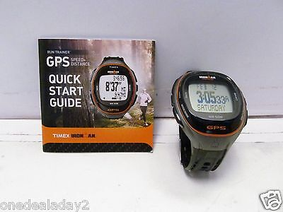 TIMEX IRONMAN RUN TRAINER WATCH - MODEL T5K549 - with G P S Tech