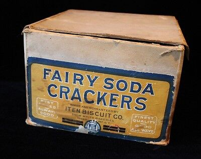 Antique Fairy Soda Crackers Advertising Box..... early 1900's