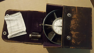 Taylor Anemometer with Leather Case, 1950's - 1960's  Vintage