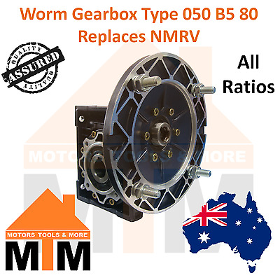 Worm Gearbox Industrial Type 050 B5 80 Replaces NMRV