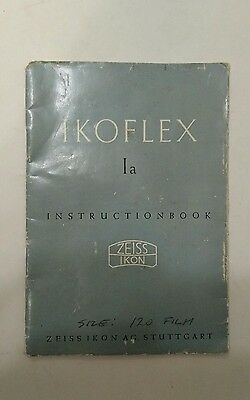 Vintage Ikoflex Zeiss Ikon Instruction Manual Germany