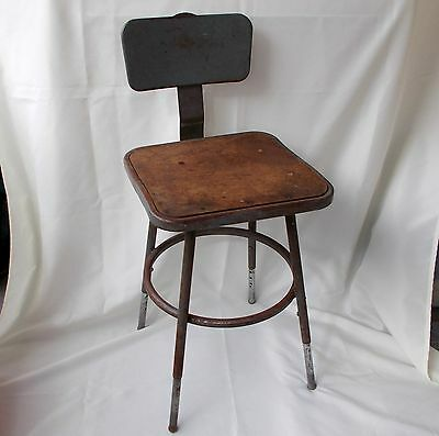 Vintage Industiral Stool, Machine Age Drafting Stool,Steampunk