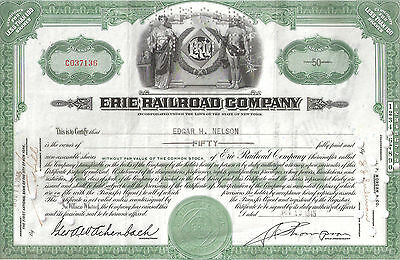 Erie Railroad / Norfolk and Western Railway Company / Stock Certificates