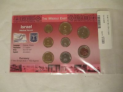 ISRAEL UNCIRCULATED COIN SET!  Middle East Agora Sheqel Sheqalim!  8 coins! LCC